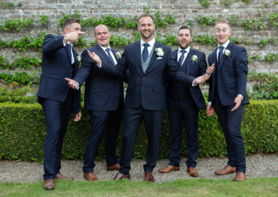 the groomsmen looking cheerful at Pentrehobyn Hall