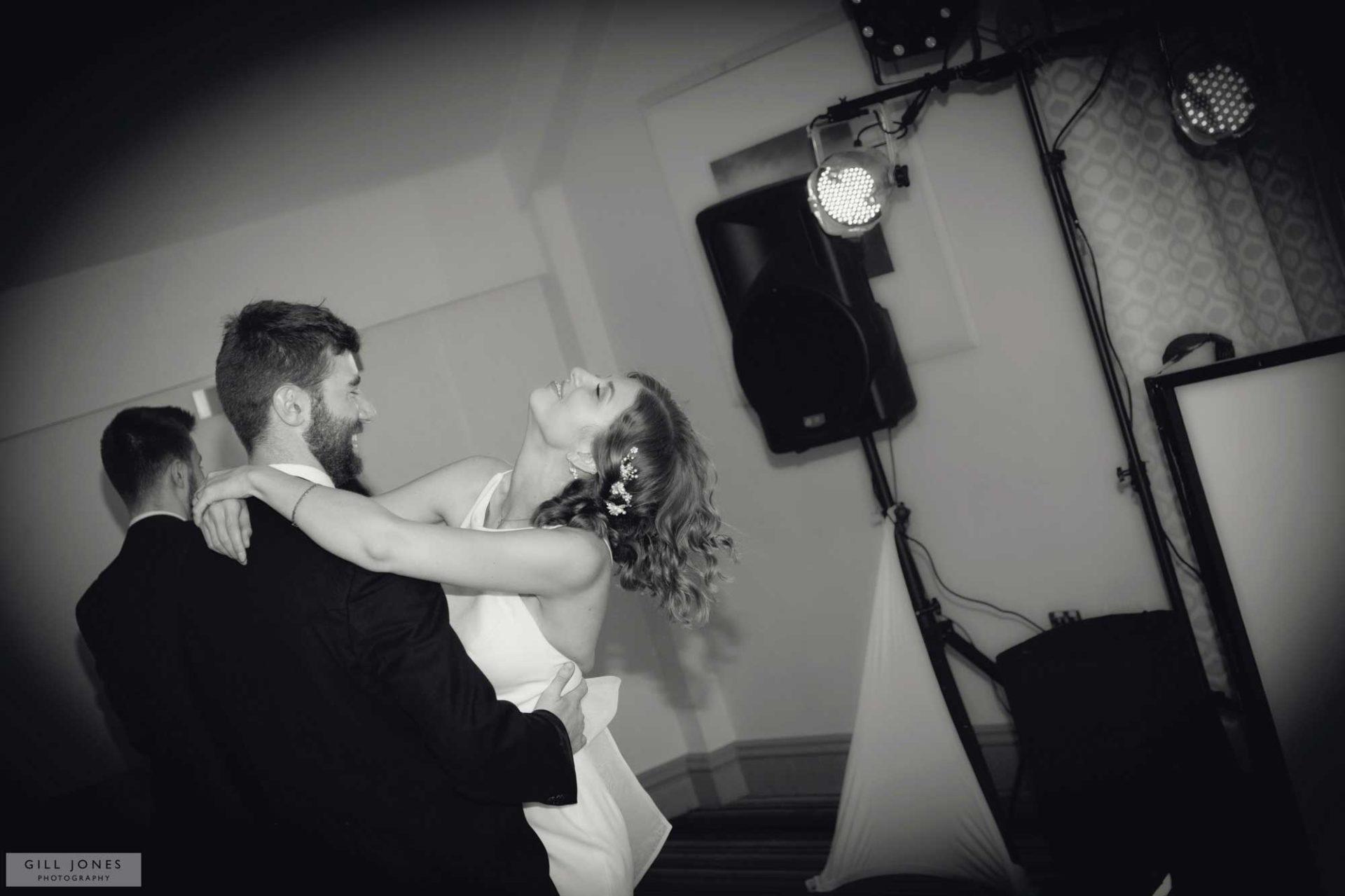 bride and groom dancing in the Trearddur Bay hotel