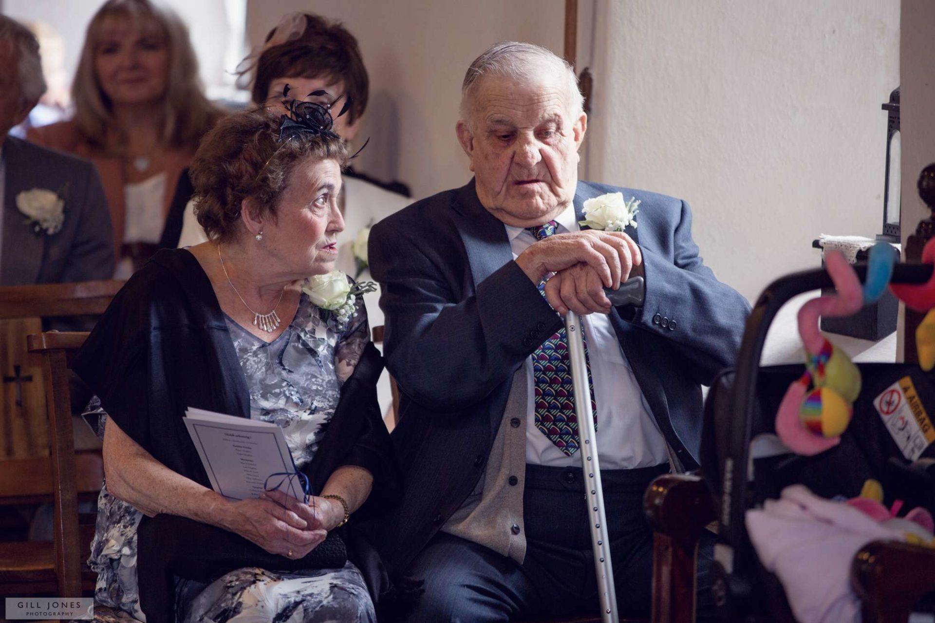 elderly guests in church