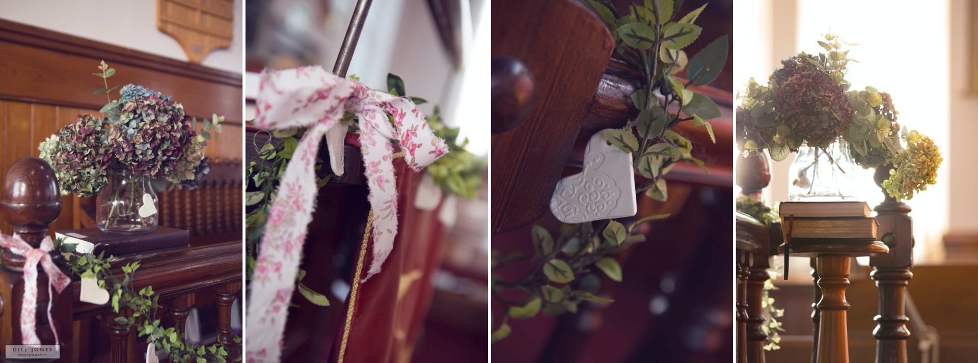 flowers displayed in Chapel